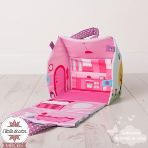 """""""Ma maison en tissu"""" + figurines - tissu imprimé à coudre"""