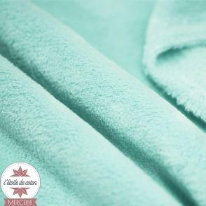 Tissu doudou ultra doux - vert d'eau