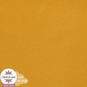 Tissu coton moutarde - Oeko-Tex