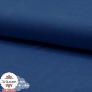 Tissu coton bleu indigo - Oeko-Tex