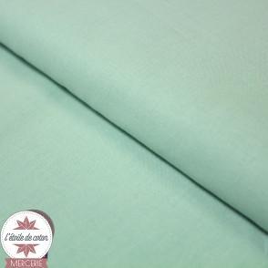 Tissu coton jade/vert d'eau - Oeko-Tex