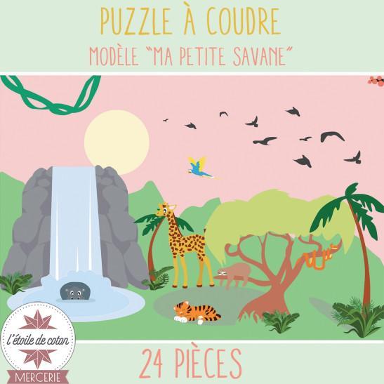"""Kit à coudre - PUZZLE """"Ma Petite Savane"""""""