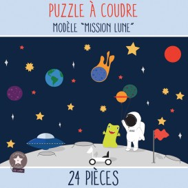"Kit à coudre - PUZZLE ""Mission Lune"""