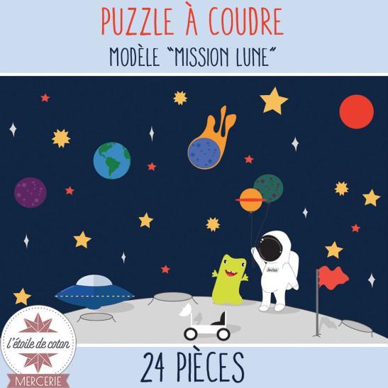 """Kit à coudre - PUZZLE """"Mission Lune"""""""