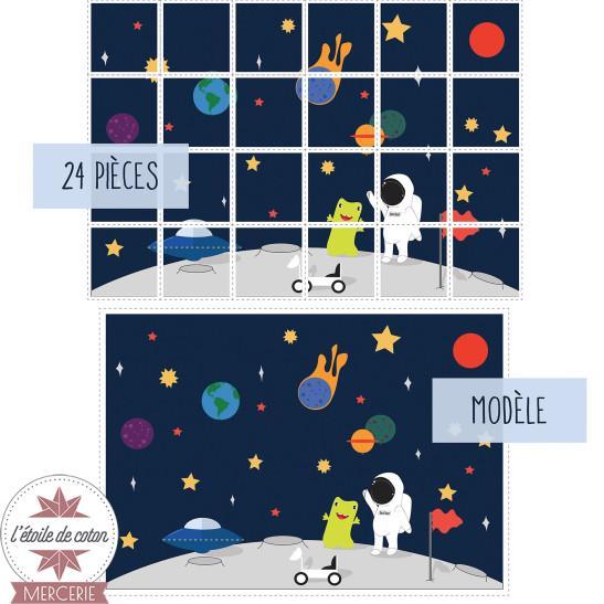 """Coupon illustré - PUZZLE """"Mission Lune"""""""