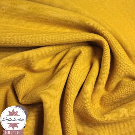 Jersey bord-côte bio 165 cm - moutarde