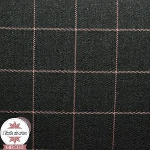 Tissu tartan écossais beige