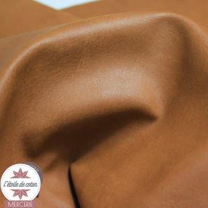 Coupon 50 x 70 cm - simili cuir effet vieilli brun