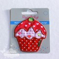 Motif thermocollant cupcake rouge/rose