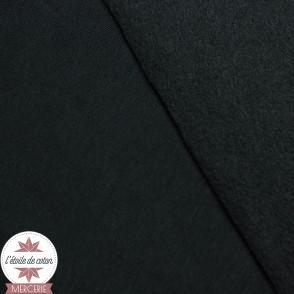 Tissu sweat molletonné - noir