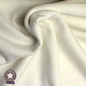Tissu sweat molletonné - bleu marine