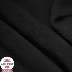 Tissu doudou ultra doux - noir