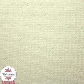 Jersey maille ajourée blanc