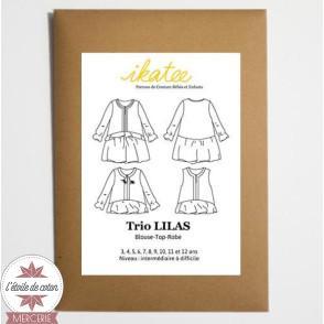 Patron Ikatee - Trio Blouse-Top-Robe LILAS (enfant)