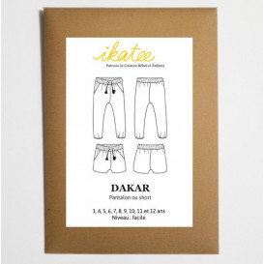 Patron Ikatee - Pantalon ou short DAKAR (fille)