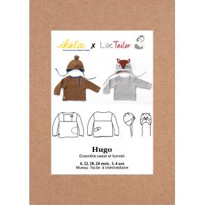 Patron Ikatee - Ensemble Sweat et Bonnet HUGO (1 mois - 4 ans)