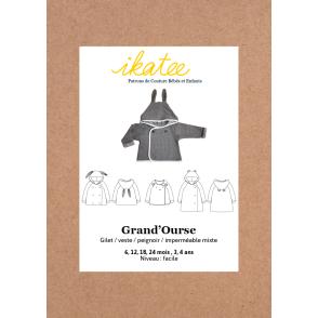 Patron Ikatee - Gilet GRAND'OURSE (6 mois - 4 ans)