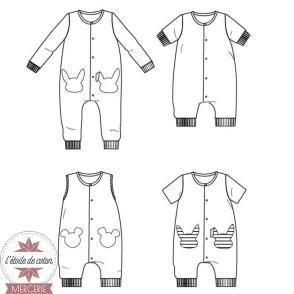 Patron Ikatee - Combinaison LISBOA (6 mois - 4 ans)