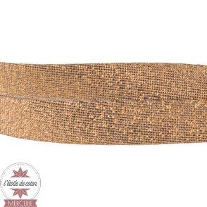 Biais lurex cuivre - 20 mm