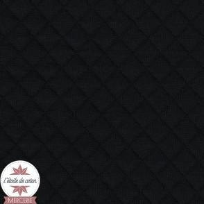 Jersey matelassé - noir