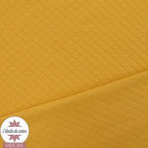 Jersey matelassé - moutarde