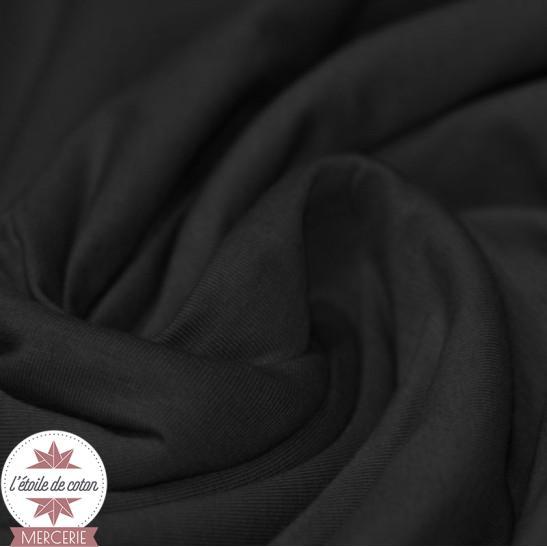 Jersey uni - noir (Oeko-Tex)