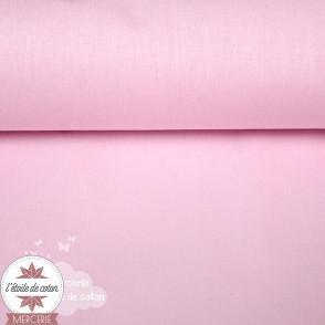Tissu coton rose dragée