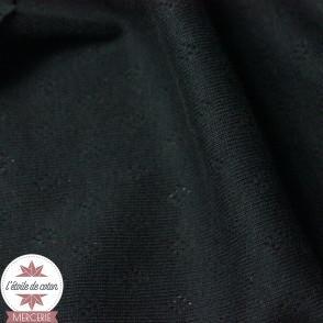 Jersey maille ajourée noir