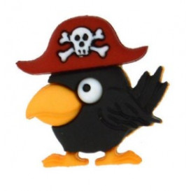 Bouton oiseau pirate