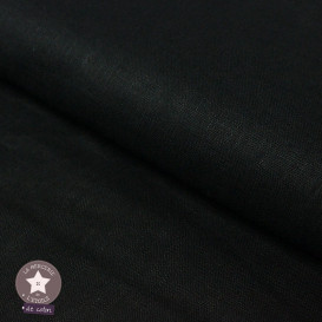 Tissu lin noir - Oeko-Tex