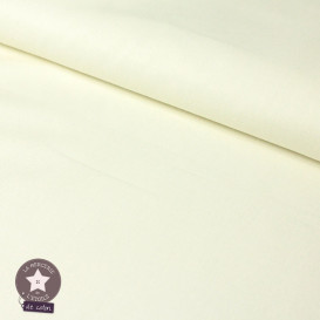 Popeline de coton - écru (Oeko-Tex)
