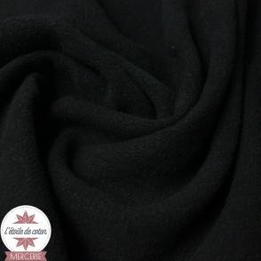 Tissu lin viscose léger - noir