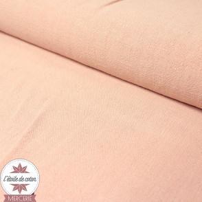 Tissu lin viscose léger - rose clair