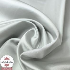 Tissu doublure satin - gris