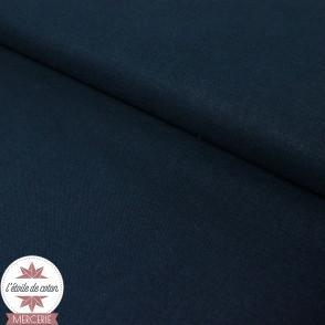 Tissu coton bleu marine - Oeko-Tex