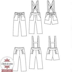 Patron Ikatee - Pantalon ou short AVANA (fille)