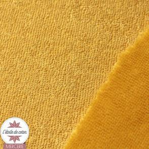 Tissu micro éponge de bambou moutarde (Oeko-Tex)