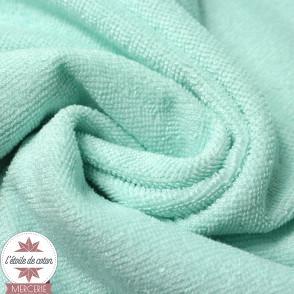 Tissu micro éponge de bambou menthe (Oeko-Tex)