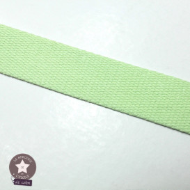 Sangle coton 30 mm - vert pistache