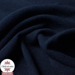 Tissu lin viscose léger - bleu marine