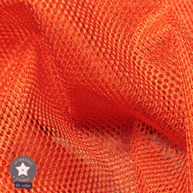 Tissu filet orange