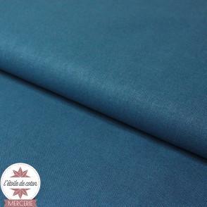Tissu coton bleu minéral - Oeko-Tex