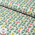 Tissu coton triangles Modino - Oeko-Tex