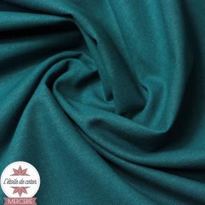 Tissu coton vert paon - Oeko-Tex
