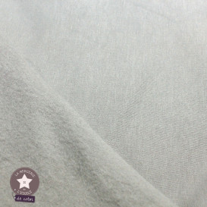 Sweat gratté uni - gris