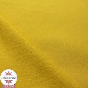 Sweat gratté uni - moutarde