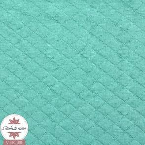 Jersey matelassé - vert émeraude