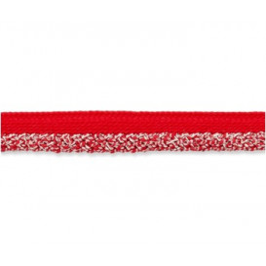 Passepoil lurex rouge/argent