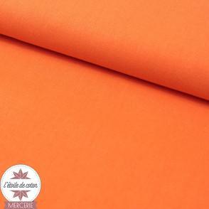 Tissu coton mandarine - Oeko-Tex