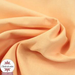 Tissu coton abricot - Oeko-Tex